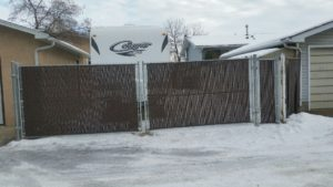 Chain Link Gate with Privacy Slats
